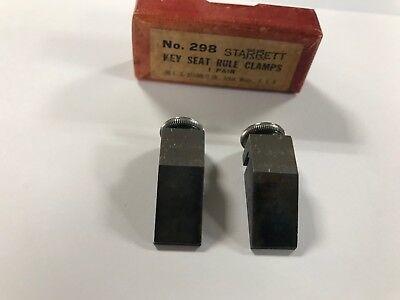 Starrett 298 Vintage Key Seat Rule Clamps 1-pair Nos Original Packaging