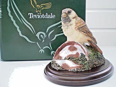 Teviotdale Figures : Sparrow on Tin Can : Birds : Wildlife : D Edlmann : British