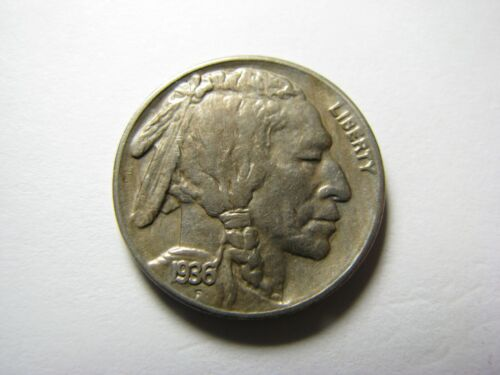 1936-S BUFFALO NICKEL <> About Uncirculated