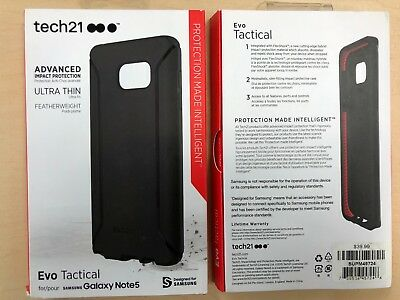 25X Tech21 Evo Tactful Case for Samsung Galaxy Note 5 Note5 in Black