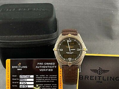 Breitling Aerospace Navitimer Titanium with Gold with Breitling Leather Strap