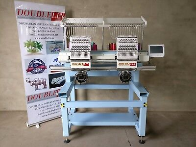 Commercial Embroidery Machine 2 Heads Compactnewnew Styleboth Head Full Size