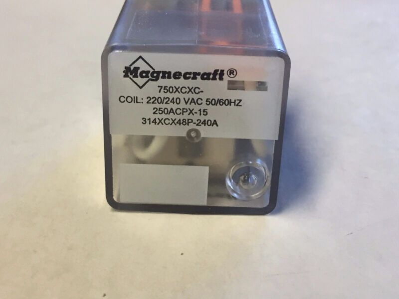 Magnecraft 750XCXC-220/240A Plug-In Relay (1pc = 1 Lot)