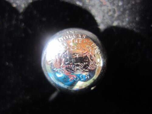 """2014 Somalia  3D Geometric Shaped COINS -Year of Math """"Sphere for Earth"""""""