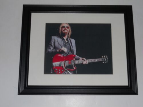 "Framed Tom Petty & Guitar 2017 40th Anniversary Tour Print Poster 14"" by 17"" #1"