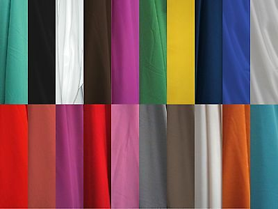 "SILKY CREPE DE CHINE CDC HIGH TWIST POLY FABRIC 60"" APPAREL 20 COLOR BY THE YARD"