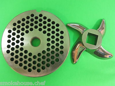 22 X 316 Meat Grinder Plate Knife Stainless Fits Hobart Tor-rey Lem More