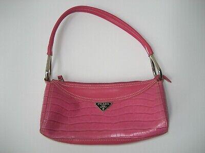 Vintage Pink Prada Milano DAL1913 Small Leather Purse/Handbag - Made In China