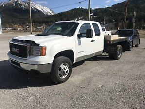 2011 GMC SIERRA WT 3500 DECK with TILT 4x4 Ext/Cab