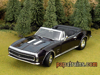 Die Cast 67 Chevrolet Camaro SS Convertible G Scale 1:24 by Showcasts 67 Camaro