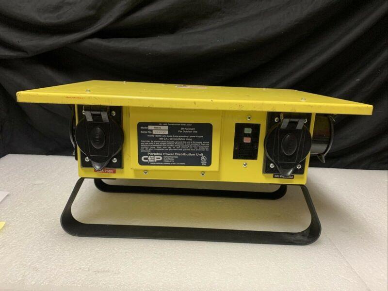 CEP 8706GU 50A 125/250V G Series GFCI Protected Temporary Power Distribution Box