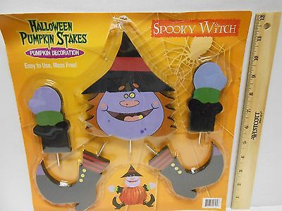 New Halloween Pumpkin Decorating  Spooky Witch Stakes---Mess Free---No Carving