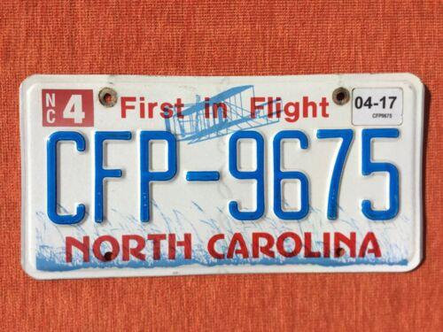 ???????? US Kennzeichen Nummernschild Licenseplate USA NORTH CAROLINA  CFP-9675 ????????