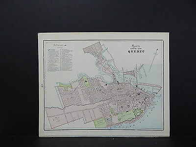 Map, City of Quebec, Canada Double-Sided S2#03