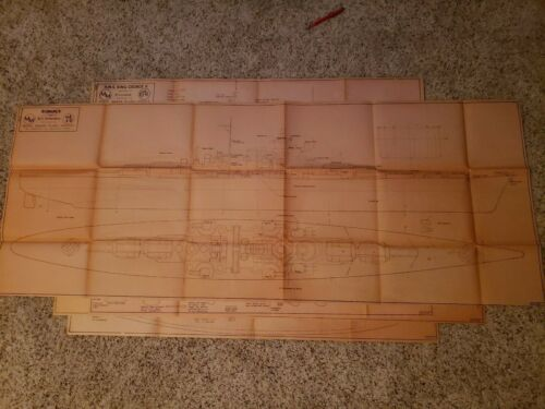 Bismarck King George V Rodney Prinz Eugen ship model plan drawing blueprint