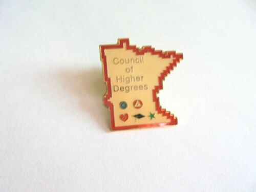 Cool Vintage Moose Club Council of Higher Degrees Minnesota Lapel Pin Pinback