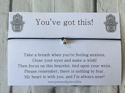 Anxiety Wish Bracelet, Charm Bracelet, Gift, Exam, Stress, Depression, #WB
