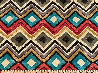 LIKE A DIAMOND FOG HGTV HOME Drapery Upholstery Diamond Print Home Decor Fabric A Bed Geometric Curtain