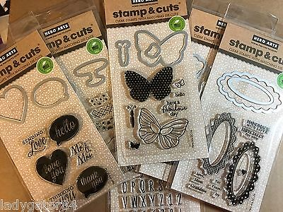 Hero Art LOT Stamp & Cuts~Clear Stamps w/matching Die-cuts to choose from