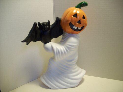 Vintage Halloween Ceramic Ghost Jack O