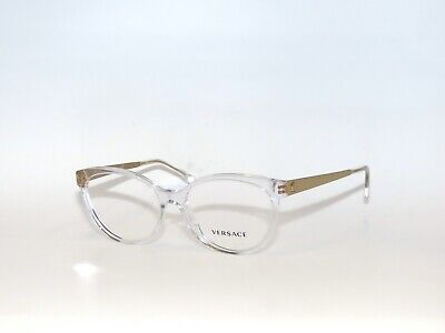 Versace 3237 148 54 Clear Gold Eyeglasses VE3237