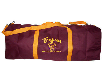 Extra extra Large football bag,Canvas travel bag with trojans logo Made in USA (Football Gear Bags)