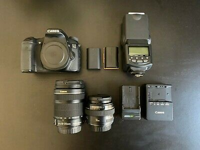 Canon EOS 70D w/ Canon 50mm f1.4 Lens and Canon 18-135mm f/3.5-5.6 IS Kit Lens