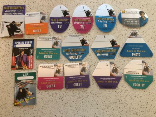 Ultimate Paul McCartney Collector Backstage Passes - 50 Passes - AUTHENTIC - #20