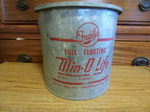 Vintage Frabill metal minnow bucket very good floating