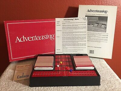 Vintage 1988 Adverteasing Board Game The Game Of Slogans, Commercials & Jingles