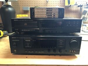 Denon AVR-810 surround receiver,CD player and 2 B&W speakers