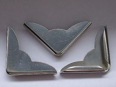10 Stück große Buchecken Metallecken Ecken 35x35x4,5 mm vernickelt NEUWARE