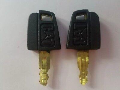 2 Keys 5p8500 Caterpillar Heavy Equipment Ignition Key Cat Dozer Roller Paver