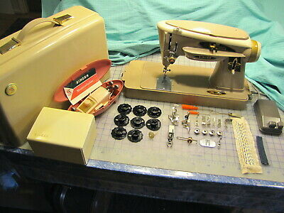 SINGER SLANT-O-MATIC ROCKETEER 503A ZIG ZAG SEWING MACHINE