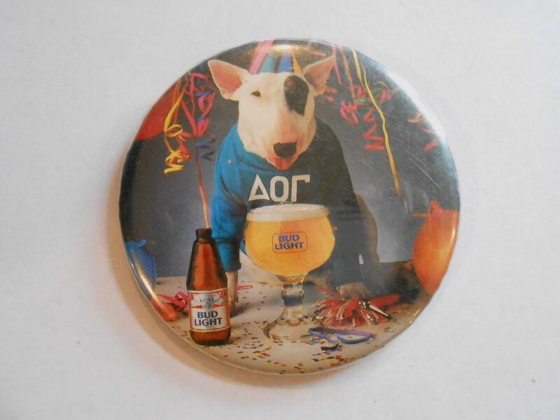 Vintage Spuds Mackenzie Bud Light Beer Party Animal Advertising Pinback Button