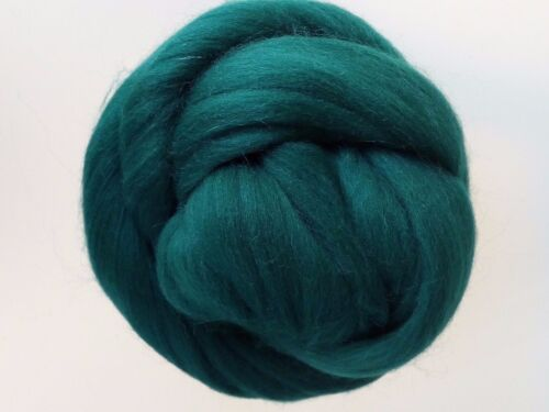 Bottle Green* 100% Merino Wool Roving Tops for Needle and Wet Felting 50 g