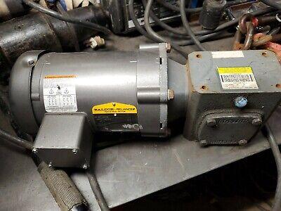 Baldor M3538 Electric Motor .5hp 1725rpm 3ph Fr56 With Boston Gear Box.