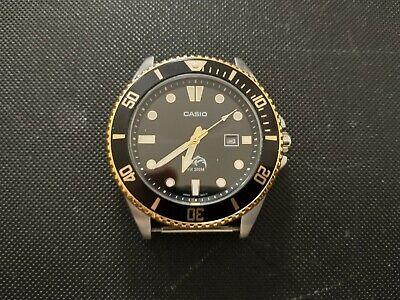 Casio Duro MDV-106G-1AV 200M Analog Dive Watch black/ gold
