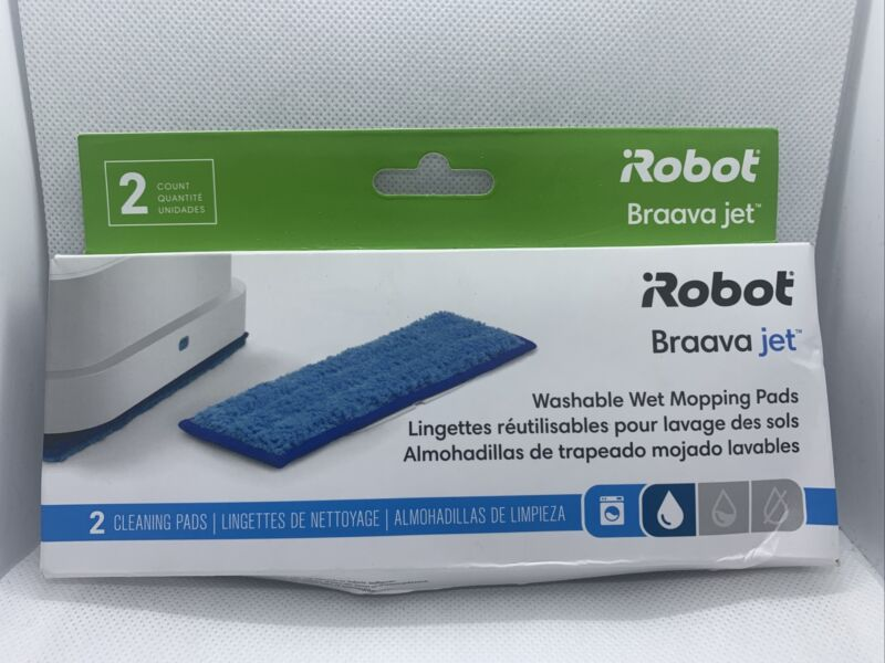 IRobot Braava Jet Washable Wet Mopping Pads 2 Cleaning Pads