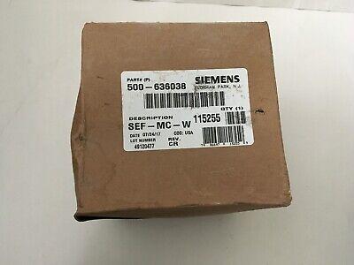 Nib New Siemens Sef-w Fire Alarm Speaker White Wheelock