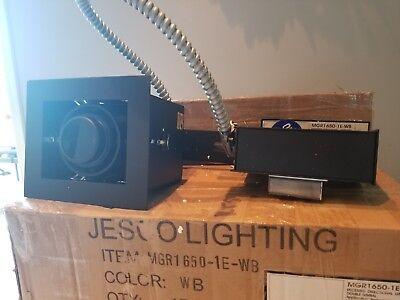 Jesco Lighting MGR 1650-1E-B Black 1-Light Recessed Gimbal Remodel Fixture