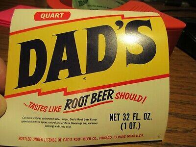 Two Vintage Dad's Root Beer Paper Labels 32 fl.oz. for sale  Lanesville