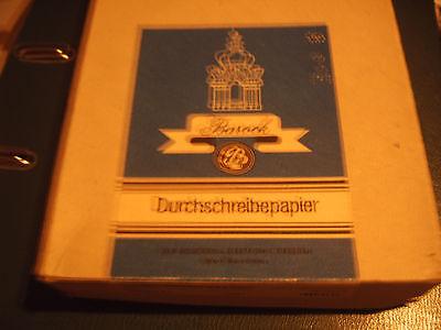 5 x schwarz Blaupapier Kohlepapier Durchschreibepapier Barock DDR A 4