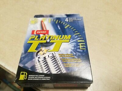 Set (4) DENSO 4504 Spark Plugs Twin Tip Platinum TT OEM# PK20TT Made in Japan