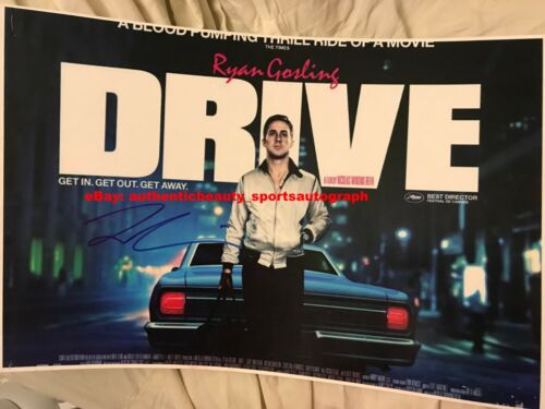 RYAN GOSLING DRIVE THE DRIVER GTA HOLLYWOOD MOVIE POSTER SIGNED 12x18 REPRINT RP