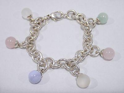TIFFANY & CO. sterling silver Quartz charm bracelet