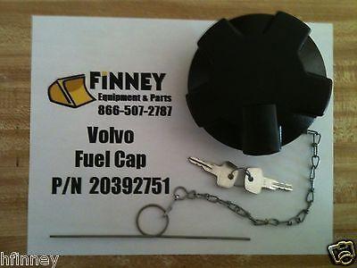 20392751 Volvo Locking Fuel Cap With Keys Wheel Loader L60 L90 L110 L120