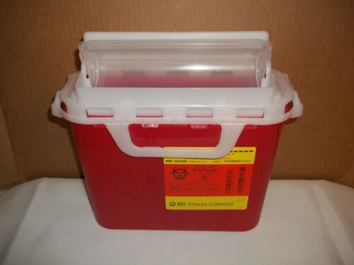 BD Sharps Collector Container 5.4 Quart Red, 305426 - Case of 12