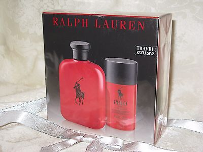 Ralph Lauren Polo 'Red' Men's Eau de Toilette Spray and Deodorant. New.