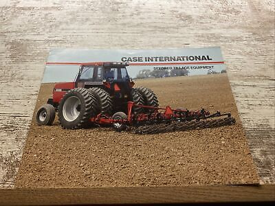 Case International Seedbed Tillage Equipment Sales Brochure